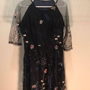 SheIn Embroidered Dress